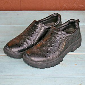 Roper Casual Shoes Sz 10.5 Ostrich Slip On Loafers